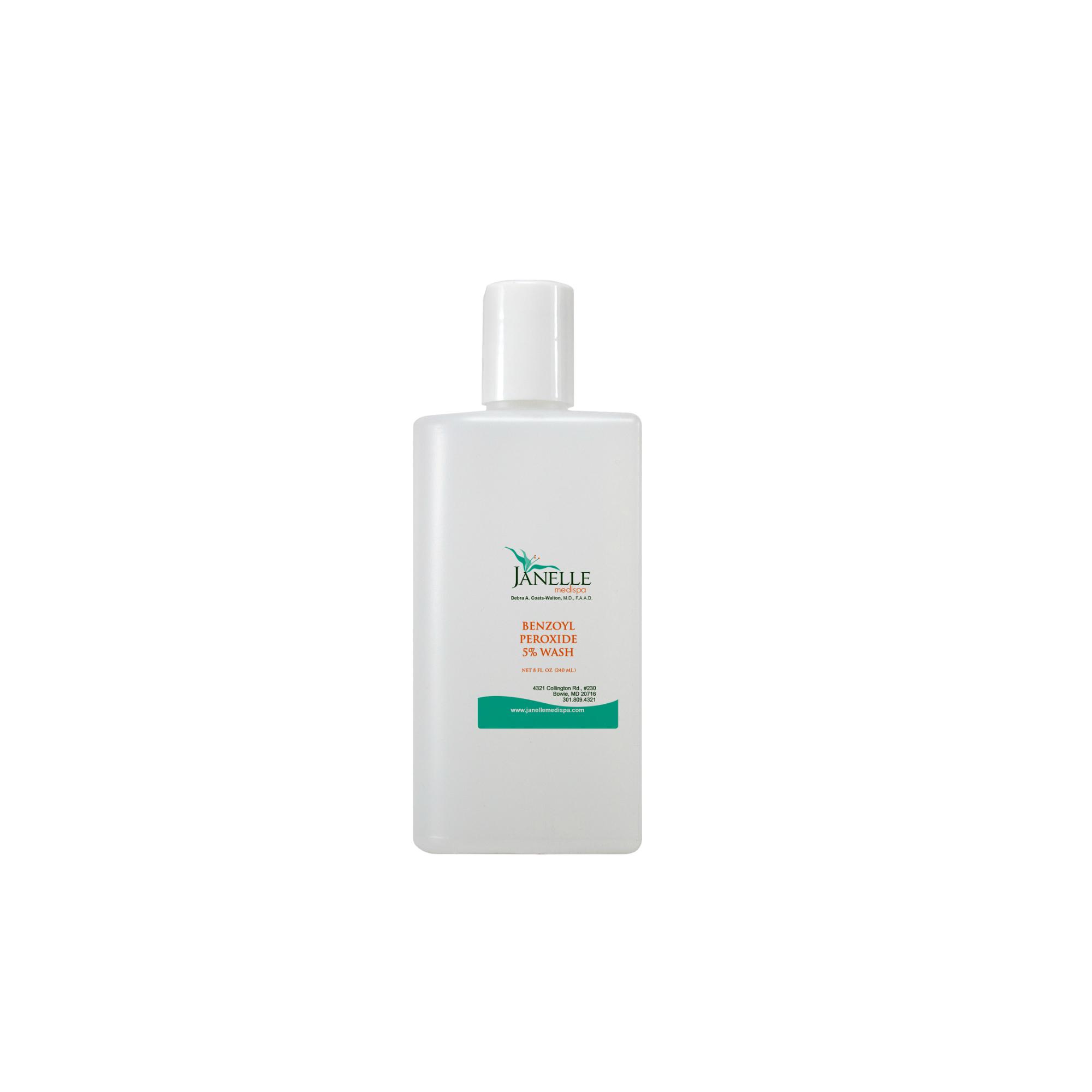 Benzoyl peroxide wash 5